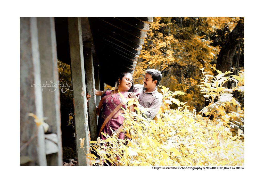 Couples outside Train
