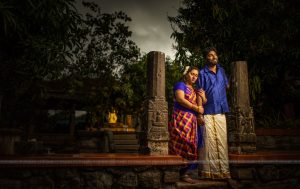 Traditional couple in Village