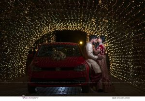 indian wedding couple red dress