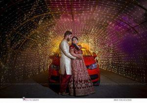 Portrait-Style Indian Wedding Couple
